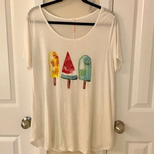 Tops - ModCloth brand popsicle T-shirt Large